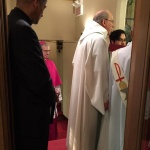 Clergy procession: Rev. Gray, Mgr. Lépine, Pastor Dyck, Rev. Pang, Deacon Cordeiro