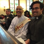 The Rev. Deacon Brian Cordeiro (preacher) and the Rev. Nick Pang