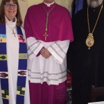 The Rev. Rosemary Lambie, Mgr. Christian Lépine, Bishop Ioan Casian
